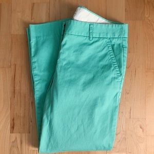 J. Crew Teal Cropped Chino Skimmer Pants, 4